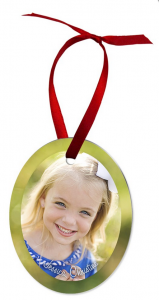 Custom Sublimated Oval Ornament