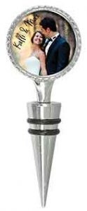 Silver 2-Sided Wine Stopper