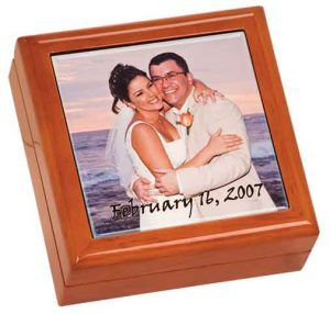 Brown Gift Box with Sublimatable Ceramic Tile