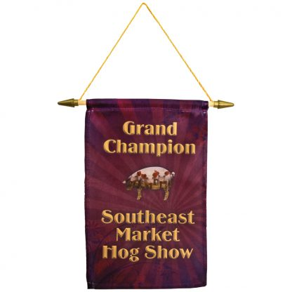 Sublimatable Banner with Hanging Cord