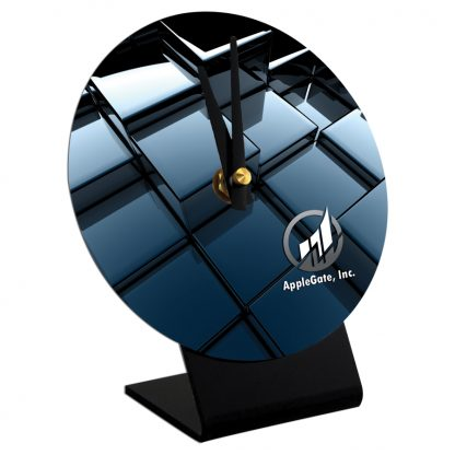 Round Table Top Desk Clock with Stand